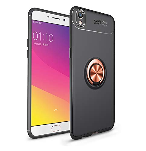 Forhouse Phone Hülle für Oppo R9 Oppo F1 Plus Hülle Protection Pouch Back Bumper Cover [ Rose Gold + Black ]