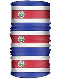 Casepillows Costa Rica Bandera Diadema Unisex Diadema Pañuelo de Cuello Multifunción Diadema Magic Head Bufanda Bandana