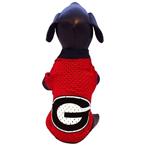 NCAA Georgia Bulldogs Athletic Mesh Dog Jersey (Team Color, XX-Large)