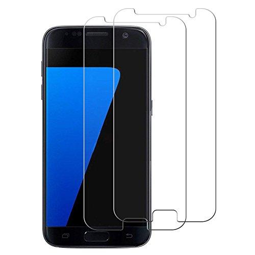 Produktbild Okay Store Samsung Galaxy S7 Panzerglas Display [2 Stück],  9H Härte, HD Anti-Öl, Kratzer,  Blasen und Einfaches Anbringen,  Reduzieren Fingerabdrücke. Ultra-Klar Schutzfolie für Galaxy S7