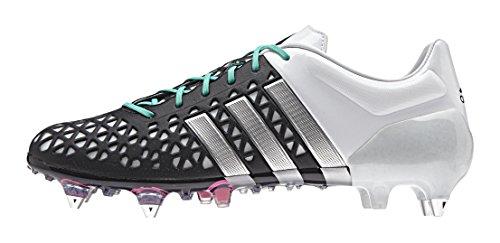 adidas Herren Ace 15.1 Sg Fußballschuhe Schwarz (Core Black/Matte Silver/Ftwr White)