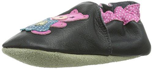 Jack & Lily 2119-1 Chaussures Premiers Pas Tout en Cuir Teddy Bear