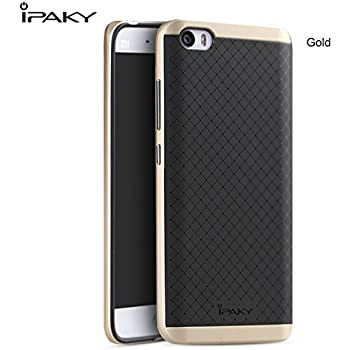 iPaky Hybrid Ultra Thin Shockproof Back + Bumper Case Cover for Xiaomi Mi5 - Gold