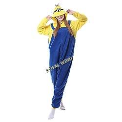 Unisex Adult Kids Minion Onesie Kigurumi Pajamas Cosplay Costume Animal