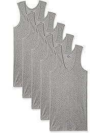 Dollar Bigboss Men's Cotton Vest (Pack Of 5) (8902889480763_MDVE-02-BB-DERBY-GREY MELANGE_100_Grey Melange)