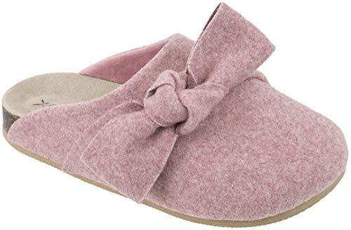 Capezio Damen Slipper Scuff Clog Schlupfschuh mit Memory-Schaum, Größe 39-45, Pink (rosa Schleife), 39 EU