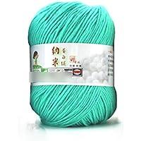 HuaYang Fil à tricoter laine cosy fil de laine pour tricoter à la main(1Pcs: Vert)