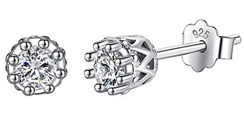 saysure-925-sterling-silver-crystal-crown-shape-stud-earrings