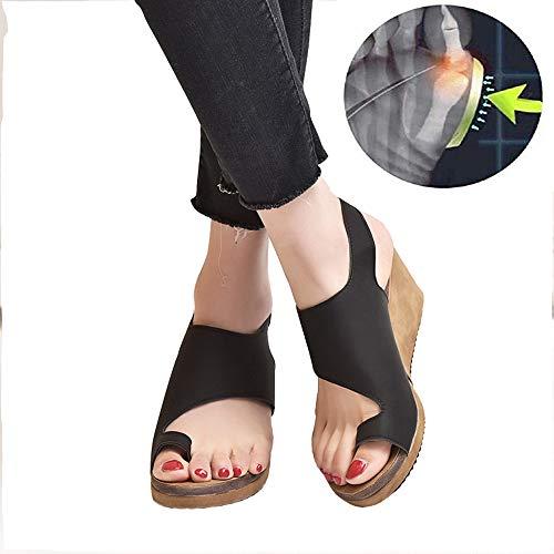 CTEJ Damen Korrektur Big Toe Hallux Valgus Unterstützung Plattform Sandale Schuhe Für Die Behandlung Frauen Bequeme Plattform Sandale Sommer Strand Reise Flach Schuhe Flip Flops,04,39 -