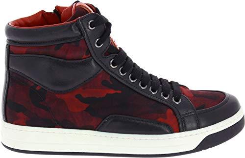 Prada Damen 3T58703o8yf0c5a06 Rot Leder Hi Top Sneakers
