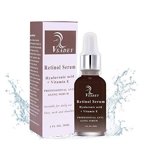 Retinol Serum von Vsadey | 2,5% Retinol mit 20% Vitamin C & Hyaluronsäure - Bestes Anti-Aging für...
