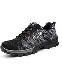 Aizeroth-UK Unisex Hombre Industria Construcción Zapatillas de Seguridad con Punta de Acero Antideslizante S3 Zapatos de Trabajo Comodas Calzado de Trabajo Deportivos Botas de Protección