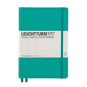 Leuchtturm1917 344792 Carnet Medium (A5), 249 pages numérotées, émeraude, pointillés