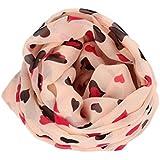 Meily Mantón largo Nueva del amor del corazón suave abrigo de la bufanda de la estola Por muchachas de las mujeres