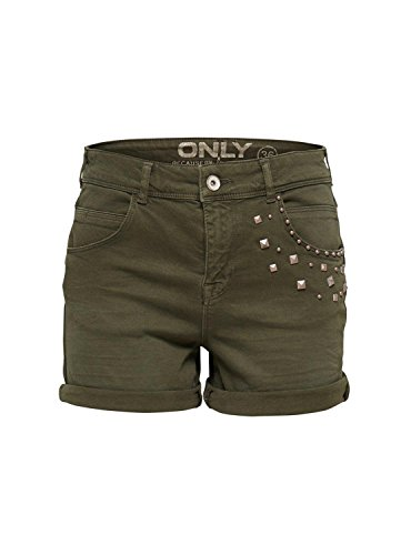 ONLY - Shorts da donna austin antifit 36 verde scuro