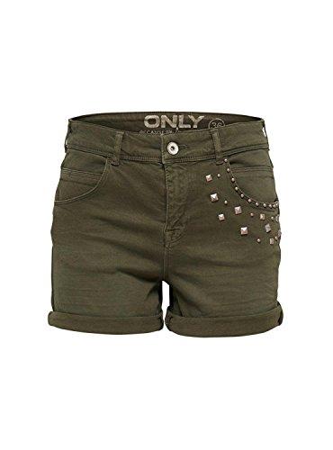 ONLY - Shorts da donna austin antifit 36 verde scuro