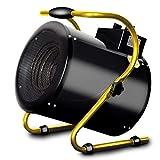 GJM Shop Heizrohr Aus Schwarzer Legierung Heizung 380 V 5KW Hohe Energie Drehstrom 388m3 / H Luftvolumen Wasserdicht Überhitzungsschutz Ventilator Für Elektrische Heizung