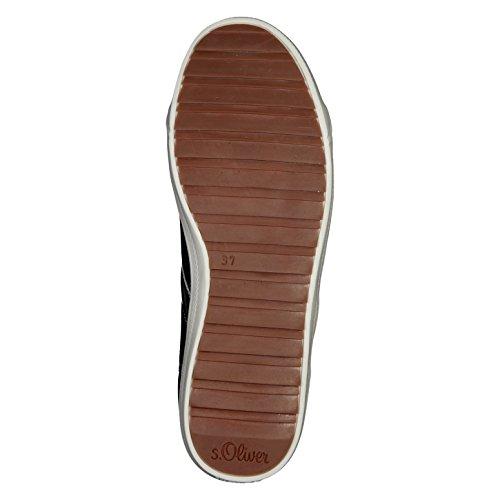 s.Oliver Damenschuhe 5-5-23605-28 Modischer Damen Freizeitschuh, Sneaker, Schnürhalbschuh Black Comb