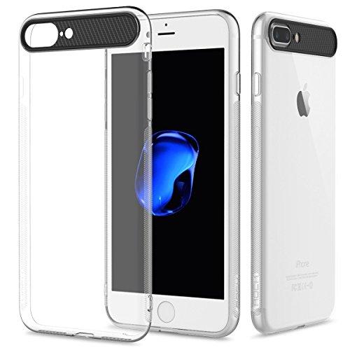 ROCK® iPhone 7 Transparent Weiche Silikon Schutzhülle Löschen [Anti-Scratches] [Tropfen Schutz] weicher TPU Gel [Ultra Slim] Flexible Premium-weiches Hülle Bumper Case Schutzhülle Handyhülle für das A i7-Transparent