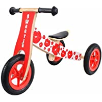 Sweetie Wooden Trike which converts to a balance bike!