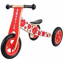 Sweetie Triciclo de madera que se convierte en una bicicleta de equilibrio!