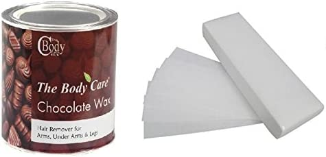 The Bodycare Hot Chocolate Wax with 30 Waxing Strips, 600g