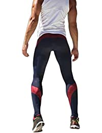 75ec97a11f4910 Yeshi Men's Compression Leggings Workout Running Yoga Sports Bodybuilding Trousers  Tights Pants