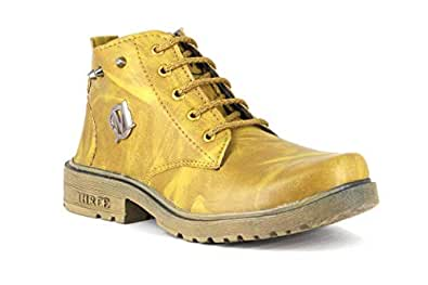 JOGS Trend Boys/Kids Beige Synthetic Leather Ankle Boot Shoes- 2C IND/UK/Age - 8-9 Years