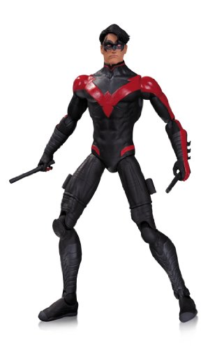 """Based on their designs from their monthly comic books comes the latest action figures joining the DC Collectibles lineup. Nightwing stands 6.7"""" tall."""