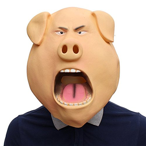 Nyrgyn Happy Pig Latex Maske Halloween Party Maskerade -