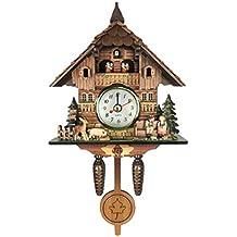 540943e5ae81 B Blesiya Madera Reloj de Pared del Diseño Cuco