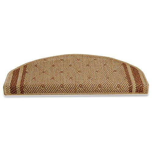 casa pura® Stair Tread Mats, Amrum - Terracotta, 15 Piece Set (Rectangular) | Matching Runners Available