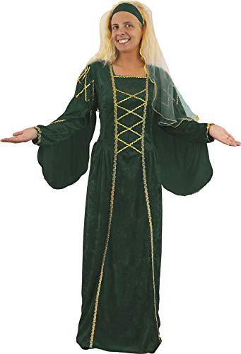 ILOVEFANCYDRESS Damen Kleid grün grün UK 10-14 (Anne Boleyn Kostüm)