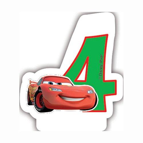 Disney NEON Cars 4. Geburtstag Kerze (Cars Party Geburtstag)