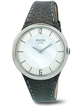 Boccia Damen-Armbanduhr Analog Quarz Leder 3161-13