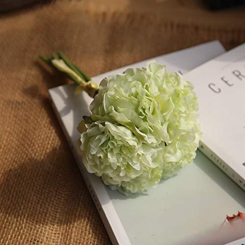 flanze Künstliche Blumen Pfingstrose Bouquet für Hochzeitsdekoration 5 Köpfe Pfingstrosen Kunstblumen Home Decor Silk Hydrangeas Günstige Blume ()