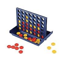 Kaemma Educational Toy Chess Ren Toys-Bingo Game Four Quadruple Chess Game Board Vertical Blue Vertical Connect Board Checkers Blue