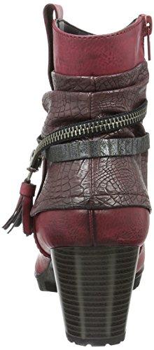 Rieker 98589, Bottes Classiques Femme Rouge (Wine/Vinaccia/Antracite/35)