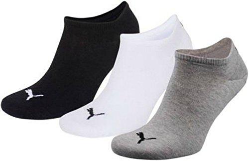 6er Pack PUMA Sneakersocken, Sportlifestyle (43/46, grau/weiß/schwarz)