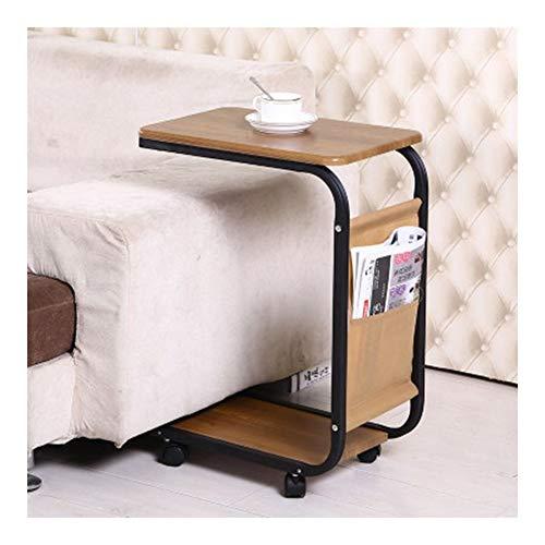 Rollende Laptop Tisch Rolling tragbare Kaffee Sofa Snack End Tray Table über Bett PC Schreibtisch (Size : C) -