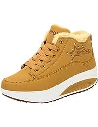 Botas,ZARLLE Botas de Nieve Botines Calientes Zapatos de Invierno Zapatos Calor Cuña Plataforma Zapatos