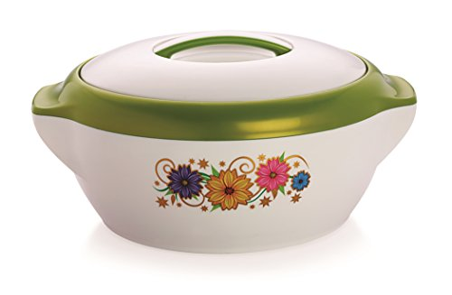 Casserole 1000, Pearl Rolex, 1 Liters Casserole Hot Pot, Insulated Serving Hot Pot with Inner, Stainless Steel Casserole, (Rolex1500 Green)  available at amazon for Rs.259