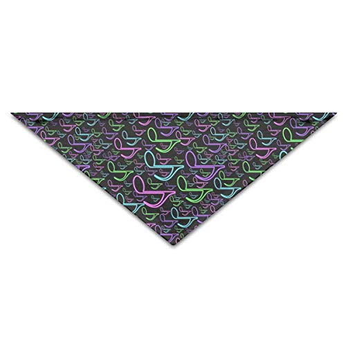 Musical Notes Vibrant Color Turban Triangle Scarf Bib Scarf Accessories Pet Cat and Baby Puppy Saliva Dog Towel