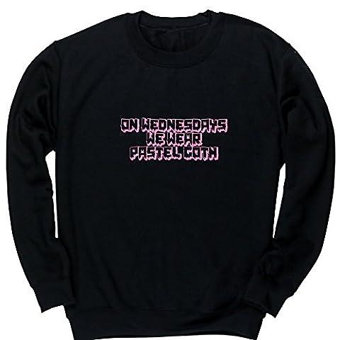 HippoWarehouse - Sweat-shirt - Fille - noir - 8 ans