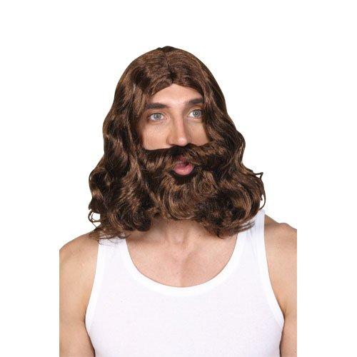 Herren Jesus Perücke Und Bart Outfit Accessoire für Kostüm Herren Herren
