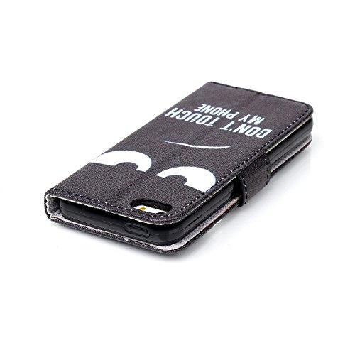 Coque pour Apple iphone SE 5 5S,Housse en cuir pour Apple iphone SE 5 5S,Ecoway Colorful imprimé étui en cuir PU Cuir Flip Magnétique Portefeuille Etui Housse de Protection Coque Étui Case Cover avec  C-1