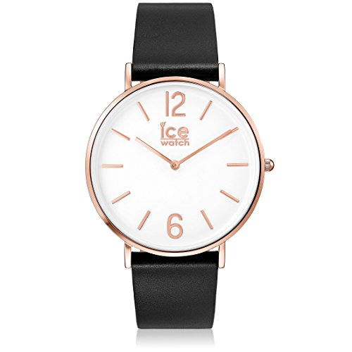 Ice-Watch - CITY tanner Black Rose-Gold - Montre noire mixte avec bracelet en cuir - 001515 (Medium)
