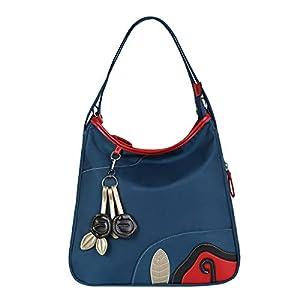 41WaKcjKh7L. SS300  - Eshow Bolsos Bandolera a Hombro para Mujeres Mochila Tela Oxford Azul Viaje Casual Escolares Shoppers Moda