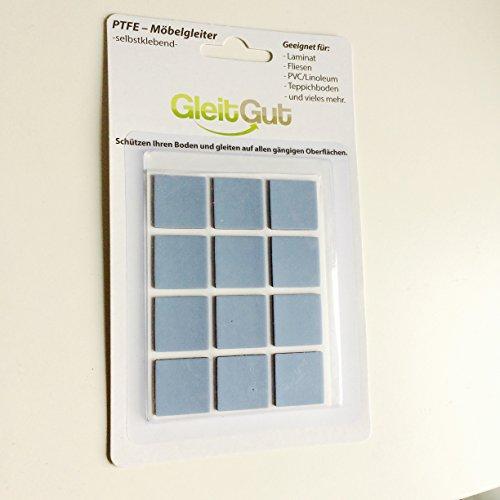GLEITGUT 12 x Teflongleiter selbstklebend 22 x 22 mm, gebraucht gebraucht kaufen  Wird an jeden Ort in Deutschland