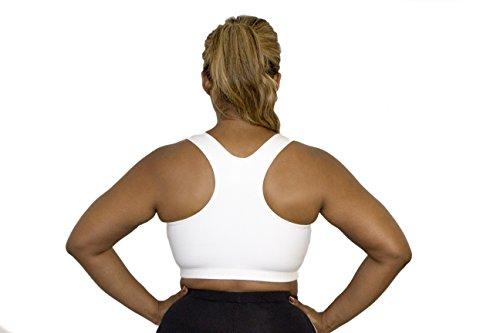 A BIG ATTITUDE Damen zurück Sport-BH plus size Weiß